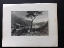 Bartlett America C1840 Print. Valley of the Shenandoah from Jefferson's Rock